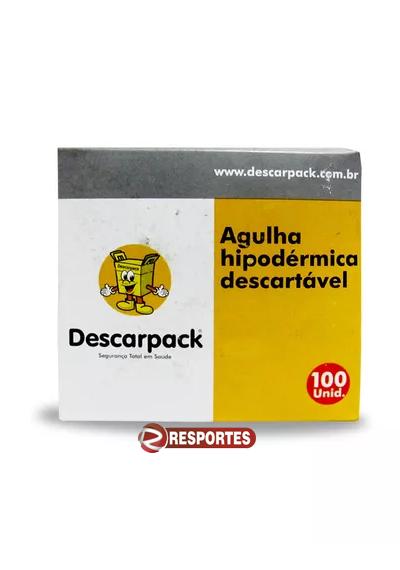 Agulha Hipodérmica 13x0,45mm - 26G Descarpack - Insulina