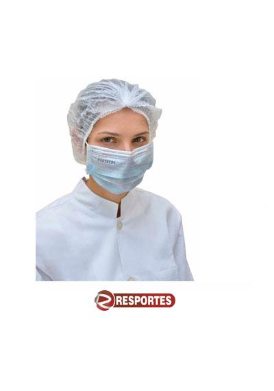 Máscara Descartável Tripla Azul c/ Elástico – 50 unidades