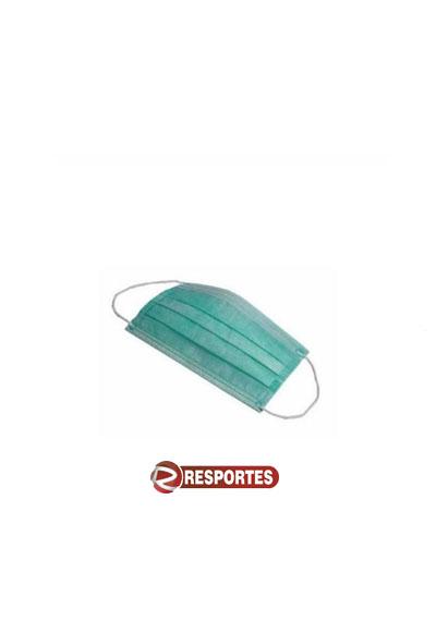 Máscara Descartável Tripla Verde c/ Elástico – 50 unidades
