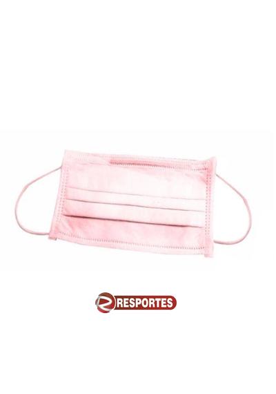 Máscara Descartável Tripla Rosa c/ Elástico - 50 unidades