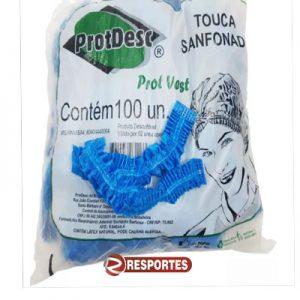 Touca Descartável Azul ProtDesc – 100 unidades