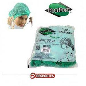 Touca Descartável Verde ProtDesc – 100 unidades