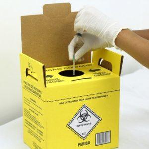 Caixa Coletora Perfuro Cortante 7 Litros Grandesc