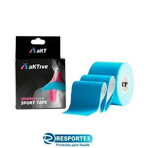 BANDAGEM ELÁSTICA – AktiveTape Sport Kinesiology Tape 5cm x 5 Mts Azul