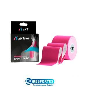 BANDAGEM ELÁSTICA – AktiveTape Sport Kinesiology Tape 5cm x 5 Mts Rosa