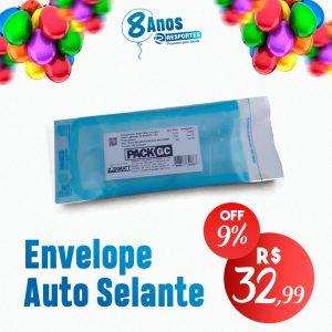 Envelope Auto Selante 9x23cm com 100unid
