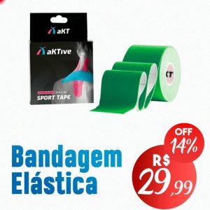 BANDAGEM ELÁSTICA – AktiveTape Sport Kinesiology Tape 5cm x 5 Mts Verde