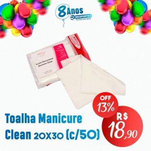Toalha Manicure Descartável Clean 20×30(Pct c/50 NT FLEX)